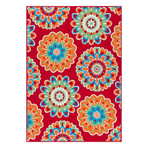 Sonoma Goods For Life Floral Medallion Indoor Outdoor Rug