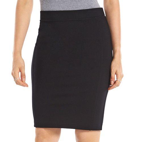 9d172828b0 Women's ELLE™ Solid Ponte Pencil Skirt