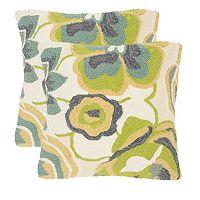 Safavieh 2-piece Jacobean Floral Outdoor Throw Pillow Set