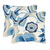Safavieh 2-piece Jacobean Floral Outdoor Throw Pillow Set