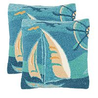 Safavieh 2-piece Seascape Outdoor Throw Pillow Set
