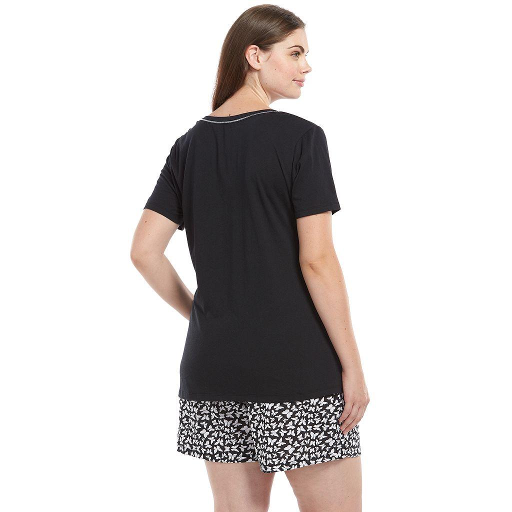 Plus Size Jockey Pajamas: Tee and Shorts Pajama Set
