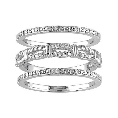 1/6 Carat T.W. Diamond Sterling Silver Ring Set