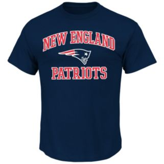 Big & Tall Majestic New England Patriots Heart and Soul III Tee