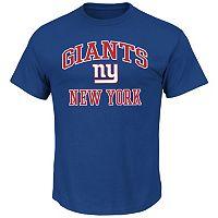 Big & Tall Majestic New York Giants Heart and Soul III Tee