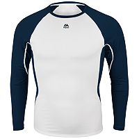 Majestic Adult Baseball Raglan Premier Warrior Fitted Base Layer Tee