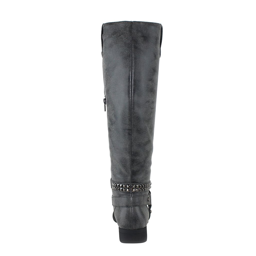 Olivia Miller Essex Women's Distressed Knee-High Riding Boots
