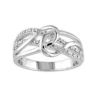 1/10 Carat T.W. Diamond Sterling Silver Loop Ring