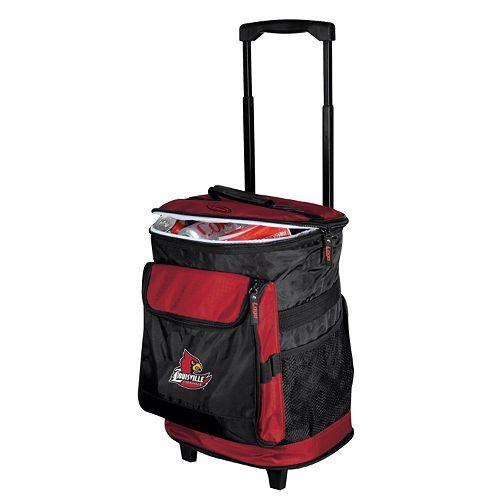 Logo Brand Louisville Cardinals Rolling Cooler