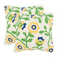 Safavieh 2-piece Provence Floral Outdoor Throw Pillow Set