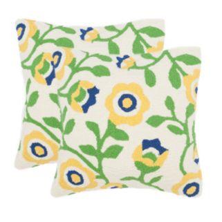 Safavieh 2-piece Provence Floral Outdoor Throw Pillow Set