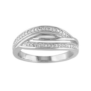 1/8 Carat T.W. Diamond Sterling Silver Twist Ring