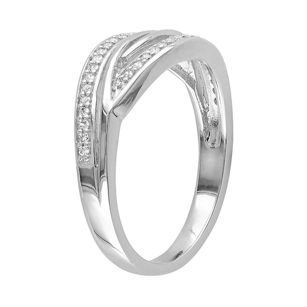 1/8 Carat T.W. Diamond Sterling Silver Twist Ring