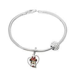 Disney's Minnie Mouse Charm, Crystal Bead & Bracelet Set
