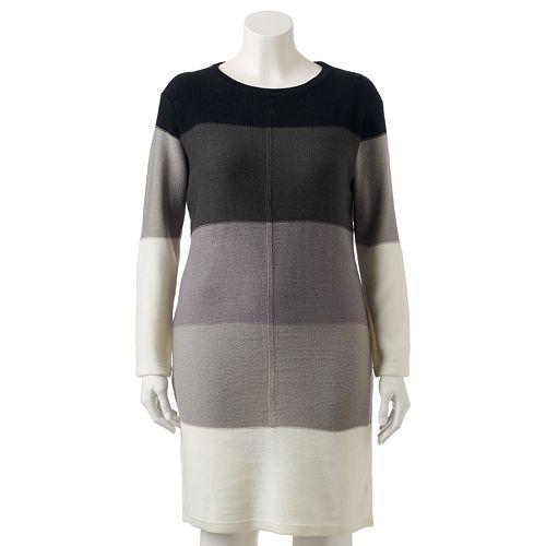 Juniors\' Plus Size Stevie & Lindsay Colorblock Dress