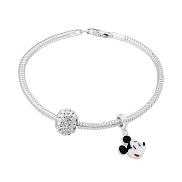 Disney's Mickey Mouse Charm, Crystal Bead & Bracelet Set