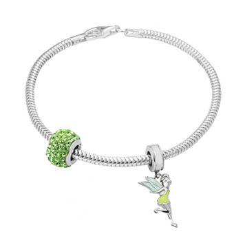 Disney's Tinker Bell Charm, Crystal Bead & Bracelet Set
