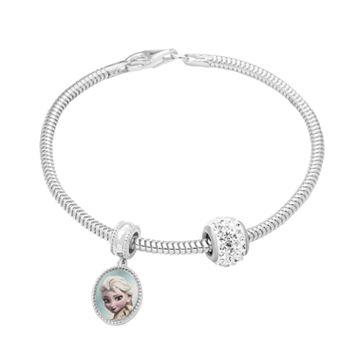 Disney's Frozen Anna & Elsa Charm, Crystal Bead & Bracelet Set