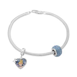 Disney's Cinderella Charm, Crystal Bead & Bracelet Set