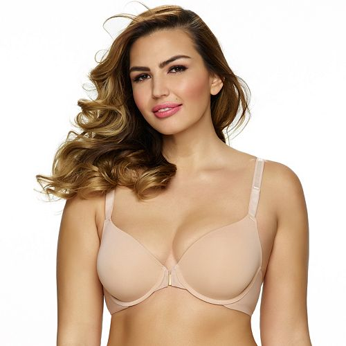 Paramour by Felina Bra: Gorgeous Front-Closure Full-Figure Plunge Bra 235455