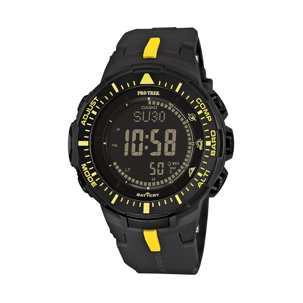 Casio Men's PRO TREK Triple Sensor Solar Digital Watch