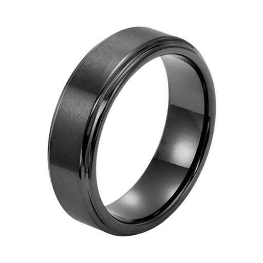 Men's Black Ceramic Wedding Band