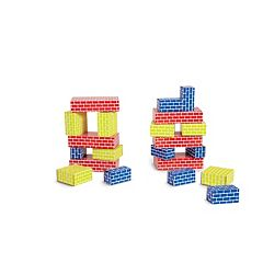 Edushape 52-pc. Corrugated Blocks