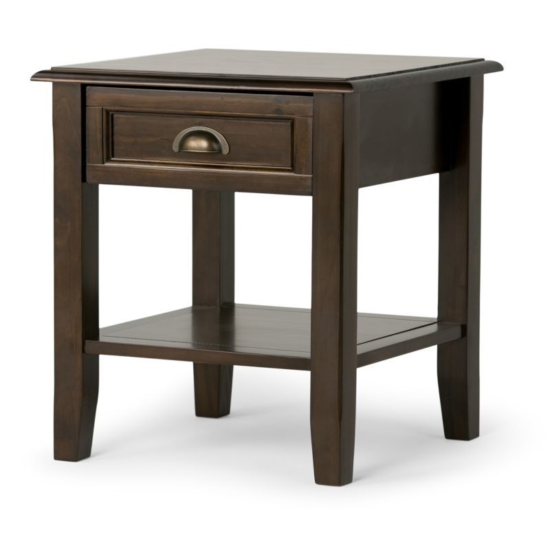 Simpli Home Burlington End Table, Brown