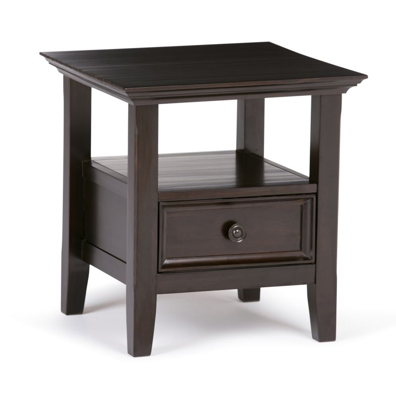 Simpli Home Amherst End Table, Brown