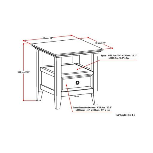 Simpli Home Amherst End Table