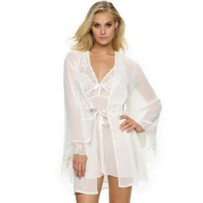 Women's Jezebel Hela Chiffon Lace Lingerie Kimono Robe