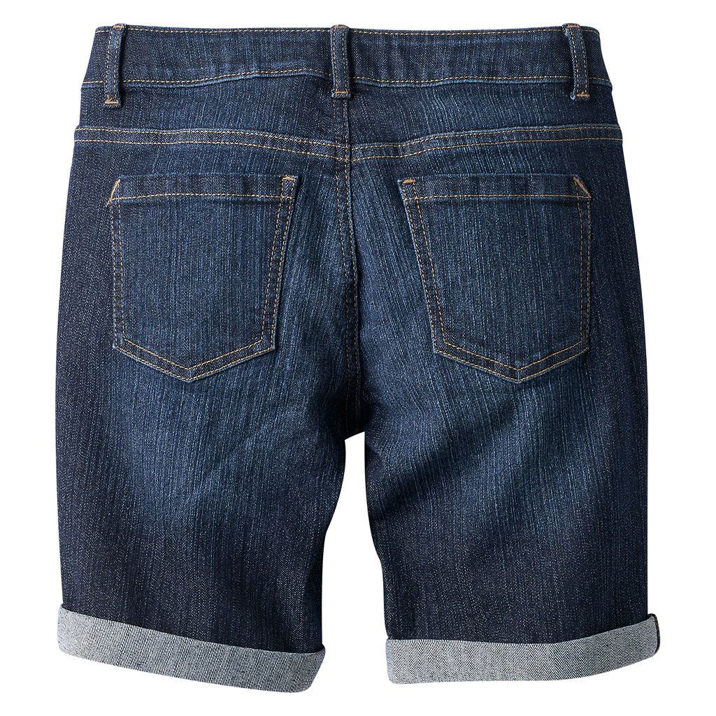 Girls 7-16 & Plus Size SO® Cuffed Denim Bermuda Shorts