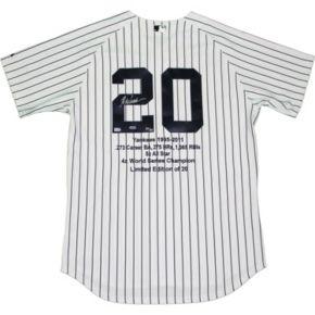 Steiner Sports Jorge Posada Signed New York Yankees Jersey