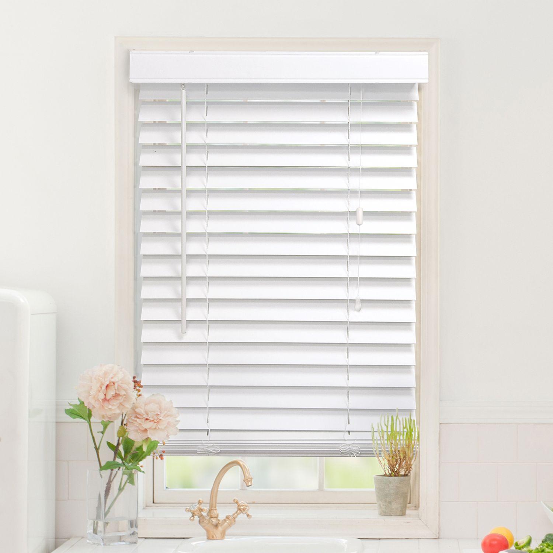 custom cut to order faux wood blinds length