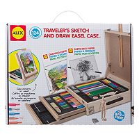 ALEX 124 pc Traveler's Sketch & Draw Easel Case