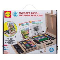 ALEX 124-pc. Traveler's Sketch & Draw Easel Case