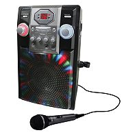 GPX Bluetooth Karaoke Machine Party System with Microphone