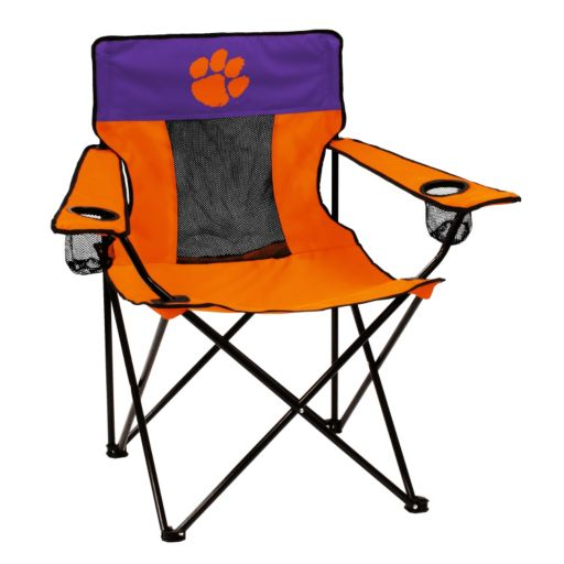 Logo Brand Clemson Tigers Elite Fold-Up Chair