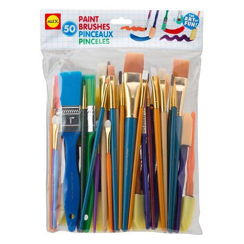 ALEX 50-pk. Paint Brushes