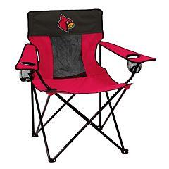 Logo Brand Louisville Cardinals Elite Fold-Up Chair