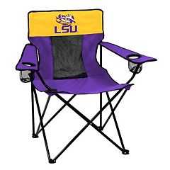 Logo Brand LSU Tigers Elite Fold-Up Chair