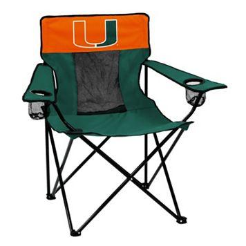 Logo Brand Miami Hurricanes Elite Fold-Up Chair