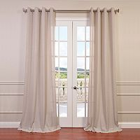 EFF Solid Faux-Linen Window Curtain