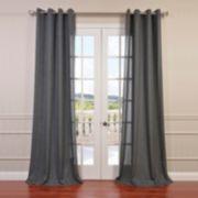 EFF Solid Faux-Linen Window Curtain