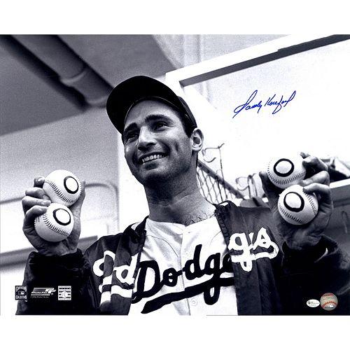 Steiner Sports Los Angeles Dodgers Sandy Koufax Holding Baseballs 16″ x 20″ Photo