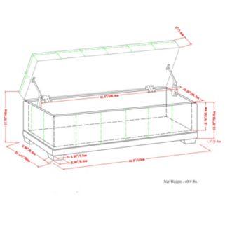 Simpli Home Westchester Faux-Leather Storage Ottoman