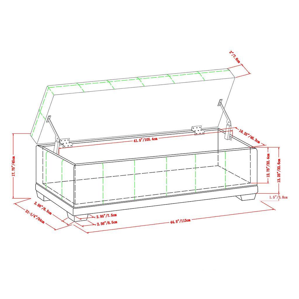 Simpli Home Westchester Storage Ottoman