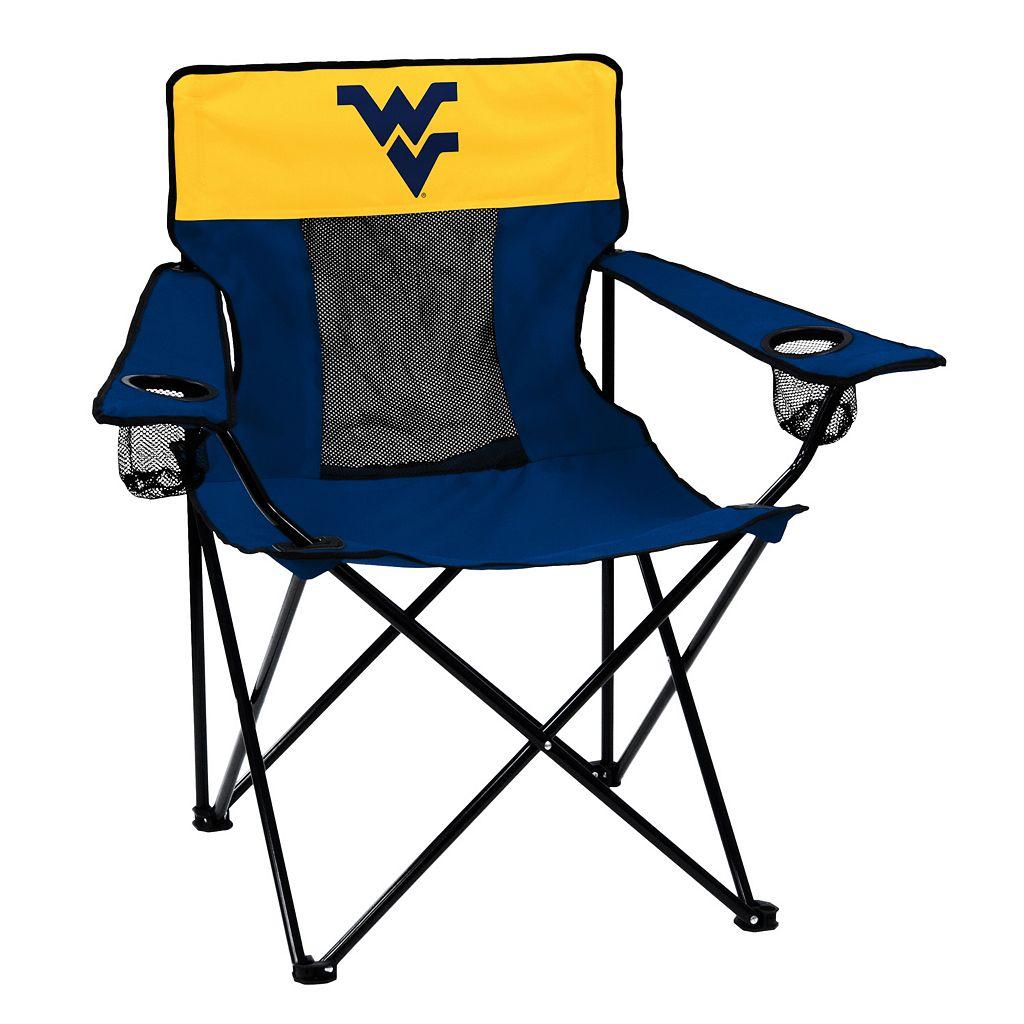 Logo Brand West Virginia Mountaineers Elite Fold-Up Chair