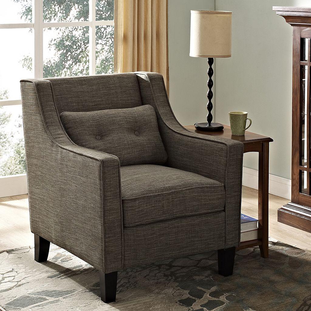 Simpli Home Ashland Club Arm Chair