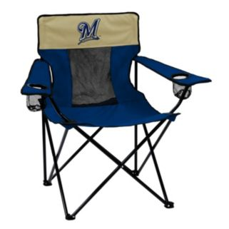 Logo Brand Milwaukee Brewers Elite Fold-Up Chair